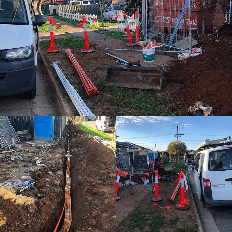 Picture of Underground work for electrical and NBN