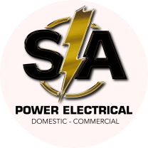 Round version of Logo from SA POWER ELECTRICAL